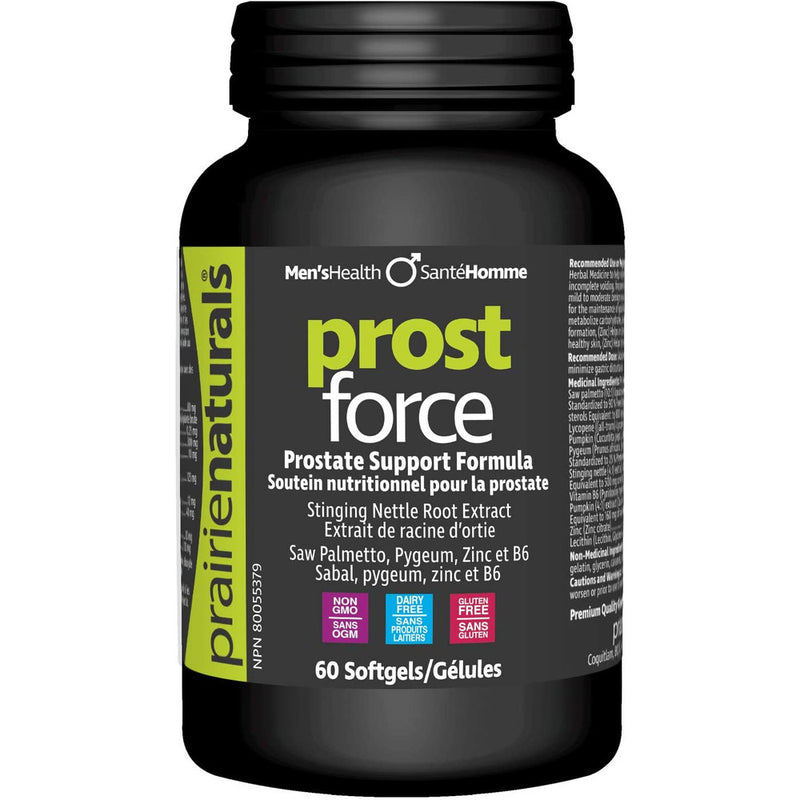 Prairie Naturals Prost force prostate support for men softgels, 60 Count