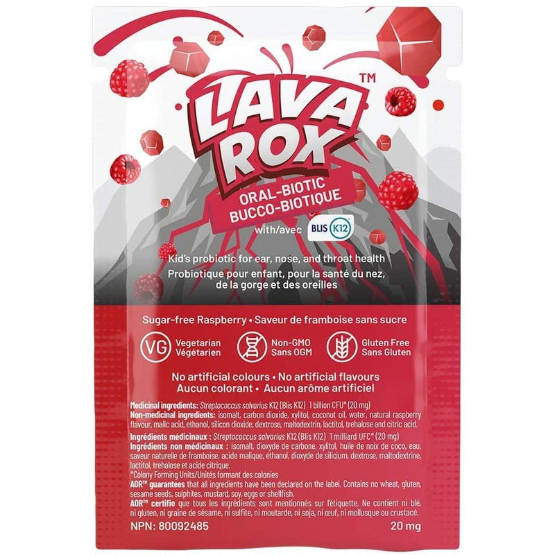 AOR - LavaRox Oral-Biotic 20 mg (24 sachets/bx) Sachet - Sugar-free, naturally-flavoured probiotics to support children's oral health and immunity