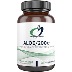 Designs for Health Aloe/200x 60 Vegetarian Capsules