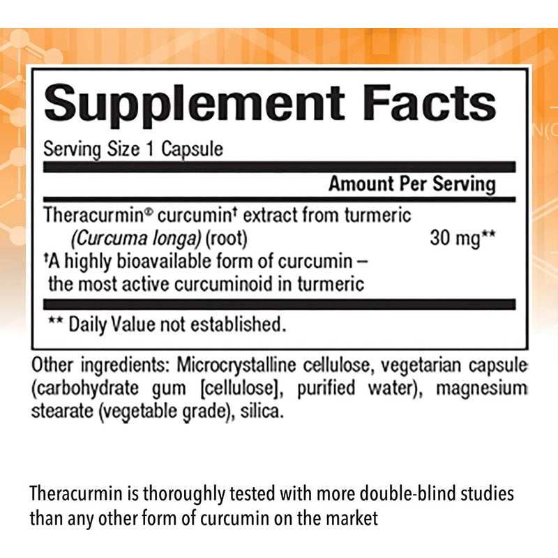 Natural Factors - CurcuminRich Theracurmin 30mg, Inflammation Support for Joints, Heart, and Circulation, 60 Vegetarian Capsules