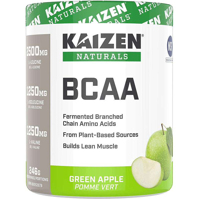 Kaizen Naturals BCAA Powder, NSF Certified, Green Apple, 30 Servings