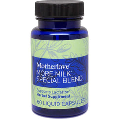 Motherlove More Milk Special Blend (60 caps) Herbal Galactagogue Breastfeeding Supplement Blend w/ Goat's Rue to Support Mammary Tissue Development & Milk Supply