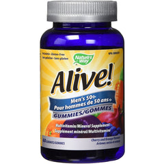 Nature's Way Alive! Multivitamin for Men 50+, Full B Vitamin Complex, Gluten Free, Orange/Cherry, 60 Men's Gummy Vitamins