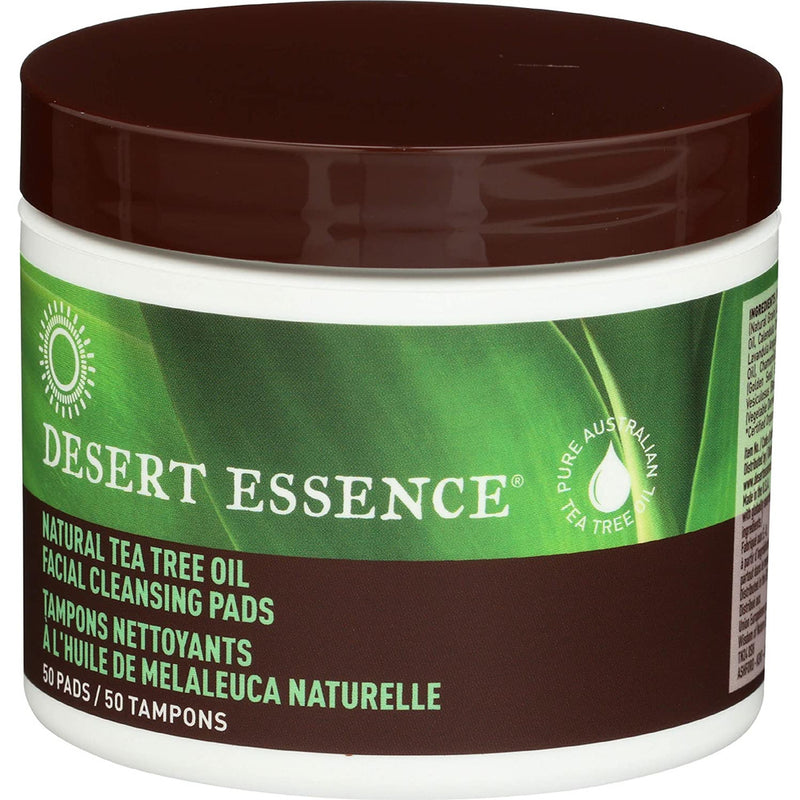Desert Essence Tea Tree Cleansing Pads (1x50 Pads)