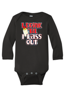 Pass🍼Out Baby Onesie