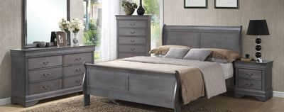 Grey Louis Philippe Bedroom