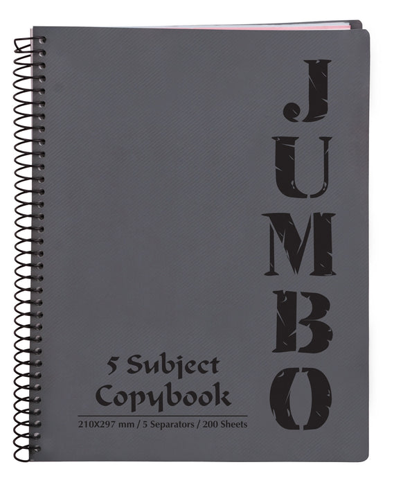 A4 Jumbo Notebook Grey ( 3, 5 Subjects )
