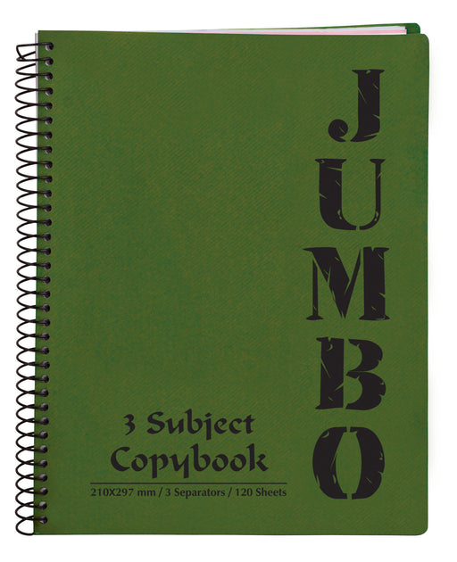 Jumbo Notebook Olive Green ( 3, 5 Subjects )