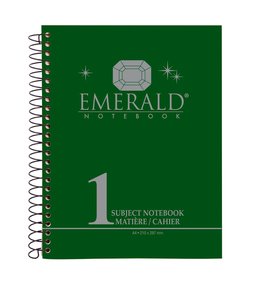 One Subject A4 Notebook Emerald Green (96, 144, 192 Sheets)