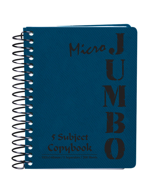 A6 Jumbo Notebook Blue (5 Subjects)