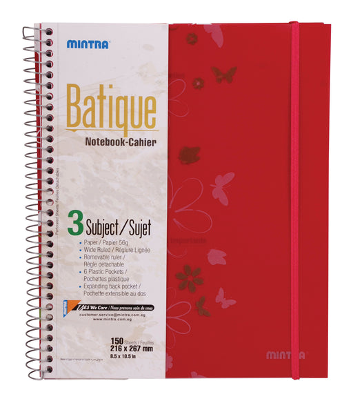 Batique Notebook (Pink)