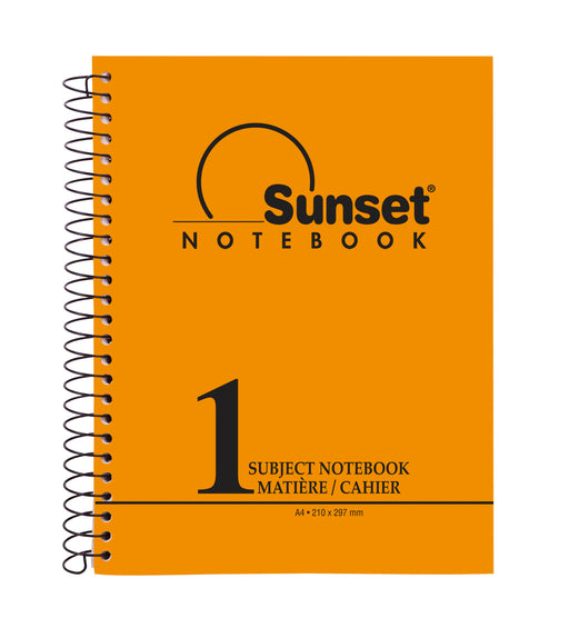 One Subject A4 Notebook Orange (96, 144, 192 Sheets)