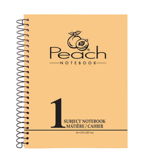 One Subject A4 Notebook Peach (96, 144, 192 Sheets)