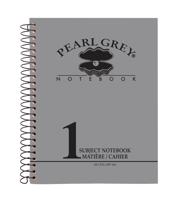 One Subject A4 Notebook Pearl Grey (96/144/192 Sheets)