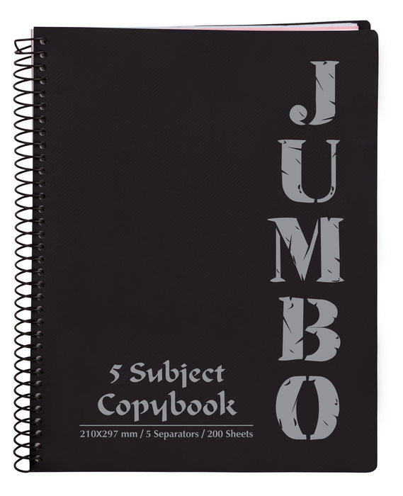 A4 Jumbo Notebook Black ( 3, 5 Subjects )