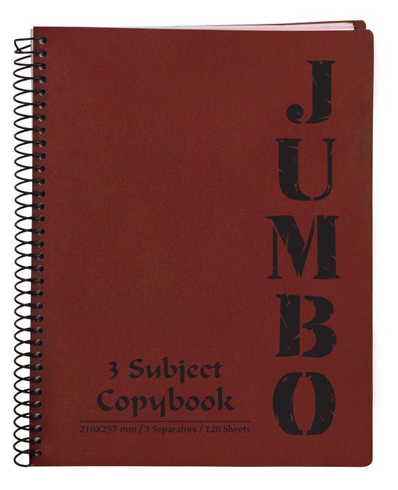 A4 Jumbo Notebook Red ( 3, 5 Subjects )