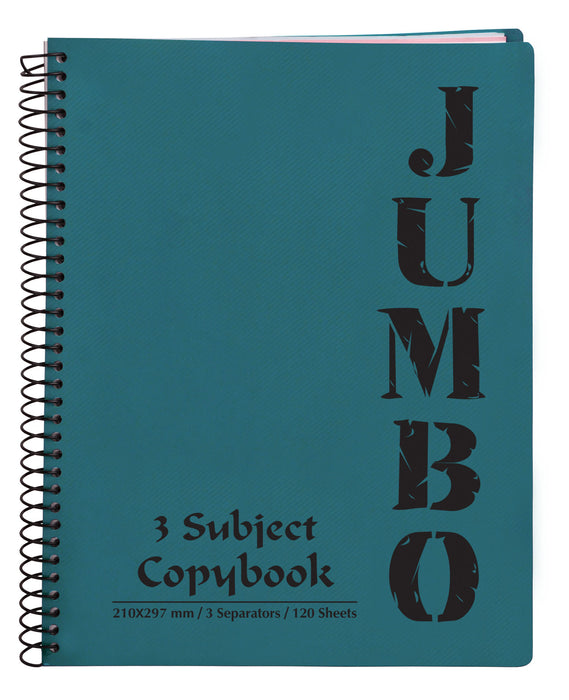 A4 Jumbo Notebook Teal ( 3, 5 Subjects )