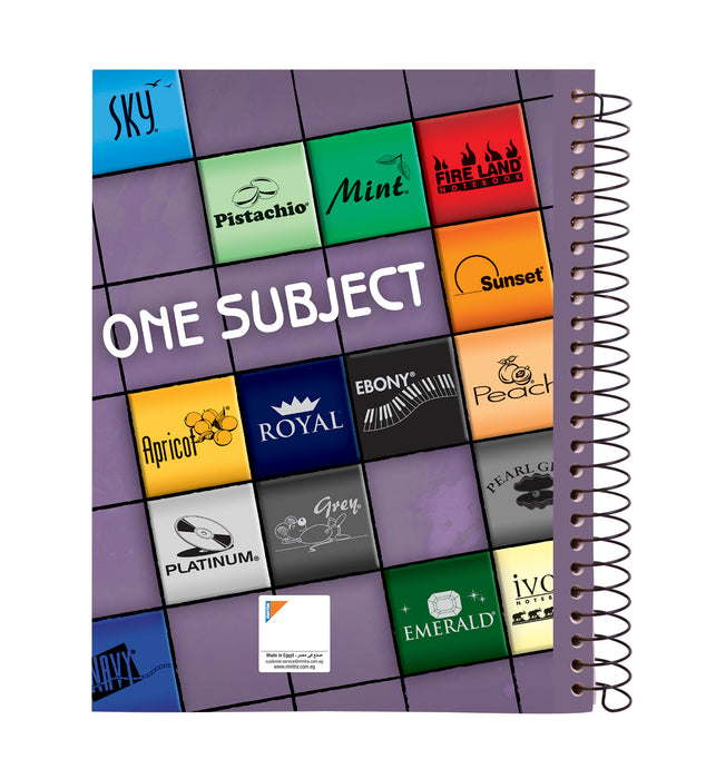 One Subject A4 Notebook Black (96, 144, 192 Sheets)