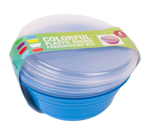 Round Preservation Bowl With Lid (pack of 4)