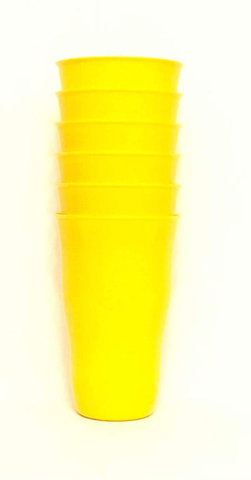 Plastic Cups 21 Ounce Tumbler (Pack of 6) mintra-shop.myshopify.com Yellow