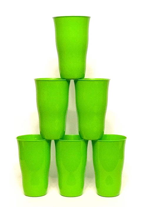 Plastic Cups 21 Ounce Tumbler (Pack of 6) mintra-shop.myshopify.com Green