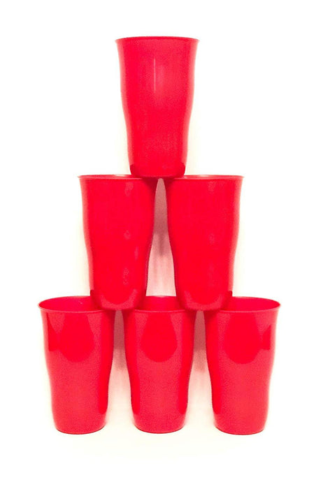 Plastic Cups 21 Ounce Tumbler (Pack of 6) mintra-shop.myshopify.com Red