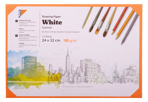 White Activity Sketching/ Drawing Paper 24 x 32 cm ( Different Paper Thickness )