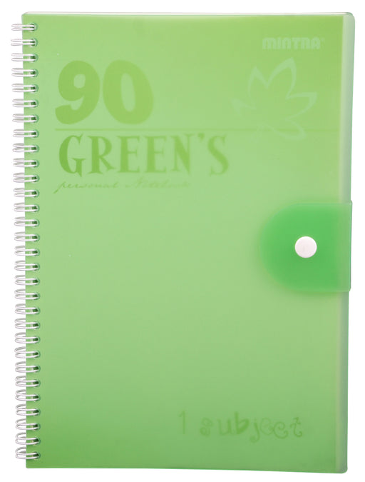 90's Notebook Green (Different Sizes Available)