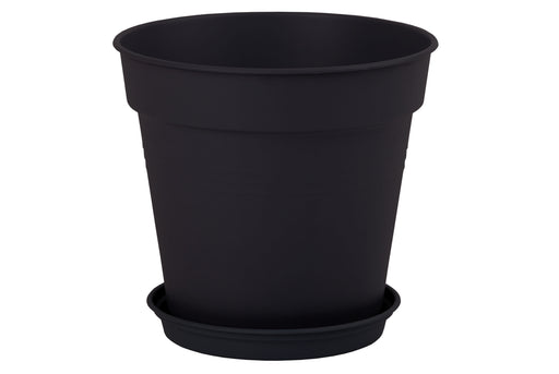 Round Pot 24 cm (Pack of 2) mintra-shop.myshopify.com Black