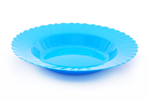 Curly Plastic Deep Plate ( 4 Pack )