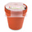Round Pot 13 cm (Pack of 4) mintra-shop.myshopify.com Orange