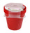 Round Pot 17cm (Pack of 4) mintra-shop.myshopify.com Red