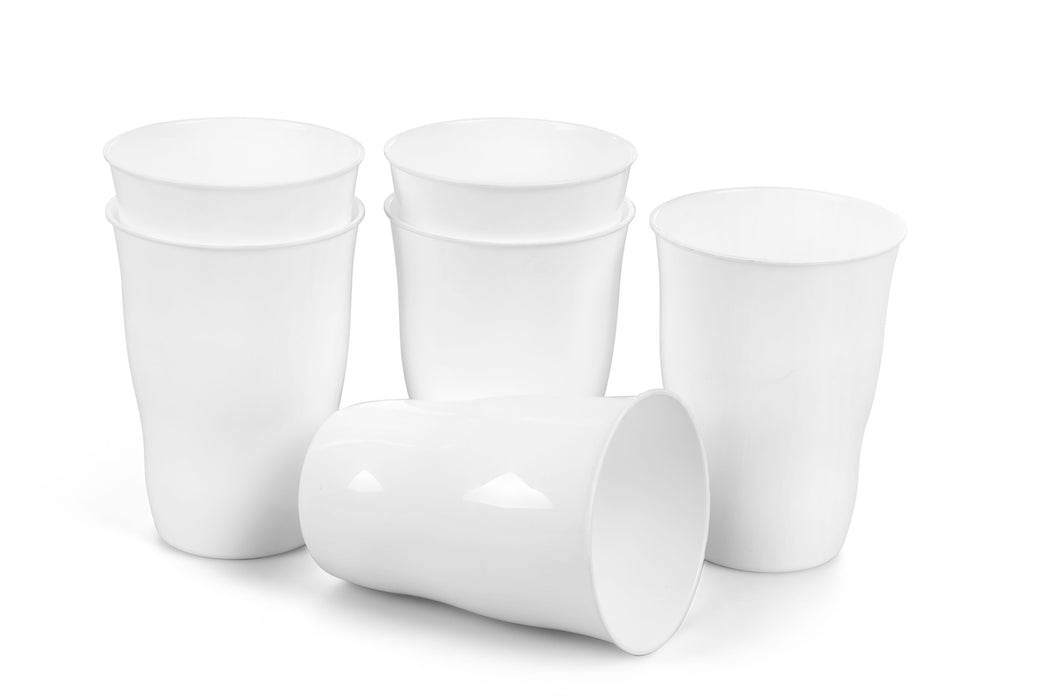 Plastic Cups 21 Ounce Tumbler (Pack of 6) mintra-shop.myshopify.com White