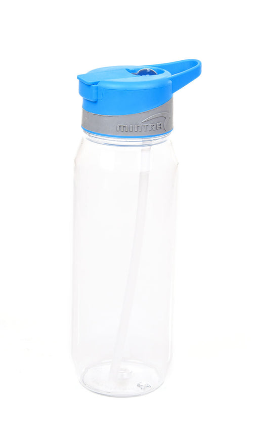 Sports Water Bottle (With Straw) - 800 ml mintra-shop.myshopify.com Blue