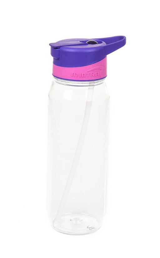 Sports Water Bottle (With Straw) - 800 ml mintra-shop.myshopify.com Purple
