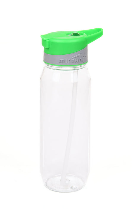 Sports Water Bottle (With Straw) - 800 ml mintra-shop.myshopify.com Green