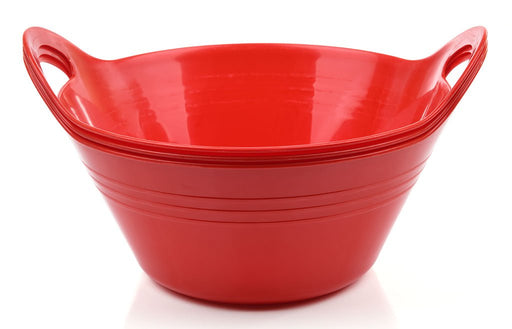 Plastic Bowls with Handles, 3 Pack (Small, 970 ml) mintra-shop.myshopify.com Red