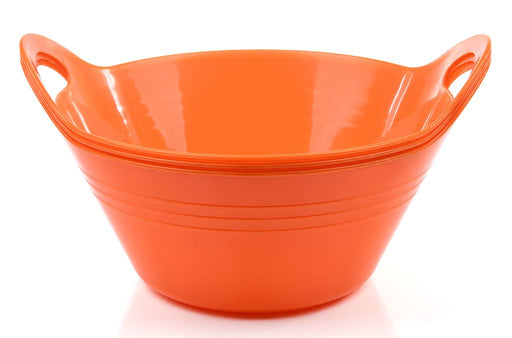 Plastic Bowls with Handles, 3 Pack (Small, 970 ml) mintra-shop.myshopify.com Orange