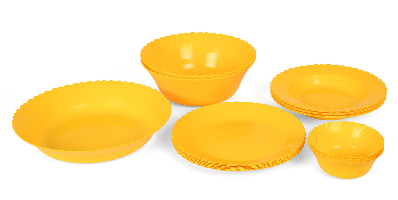 Curly Dinner Set mintra-shop.myshopify.com Yellow
