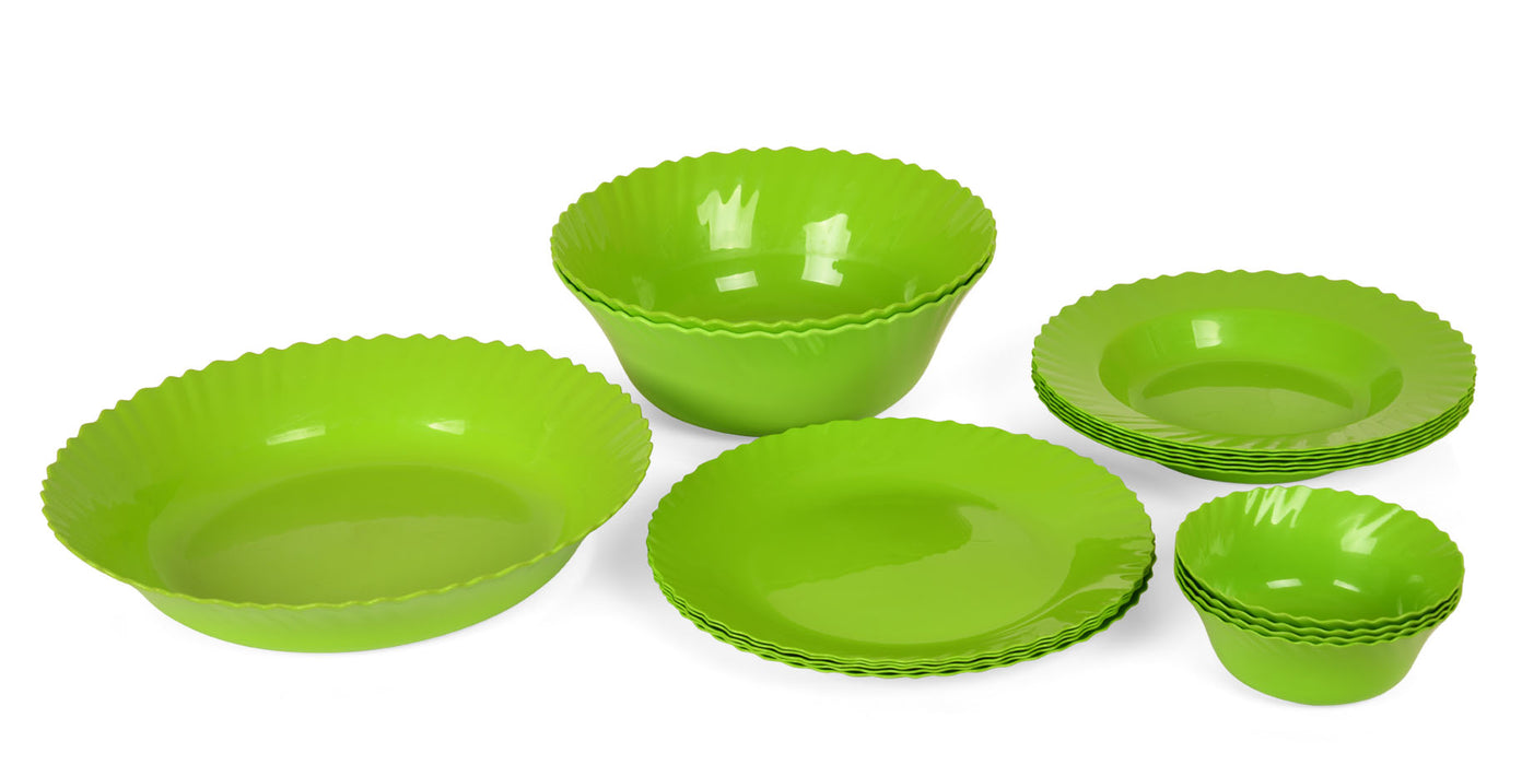 Curly Dinner Set mintra-shop.myshopify.com Green