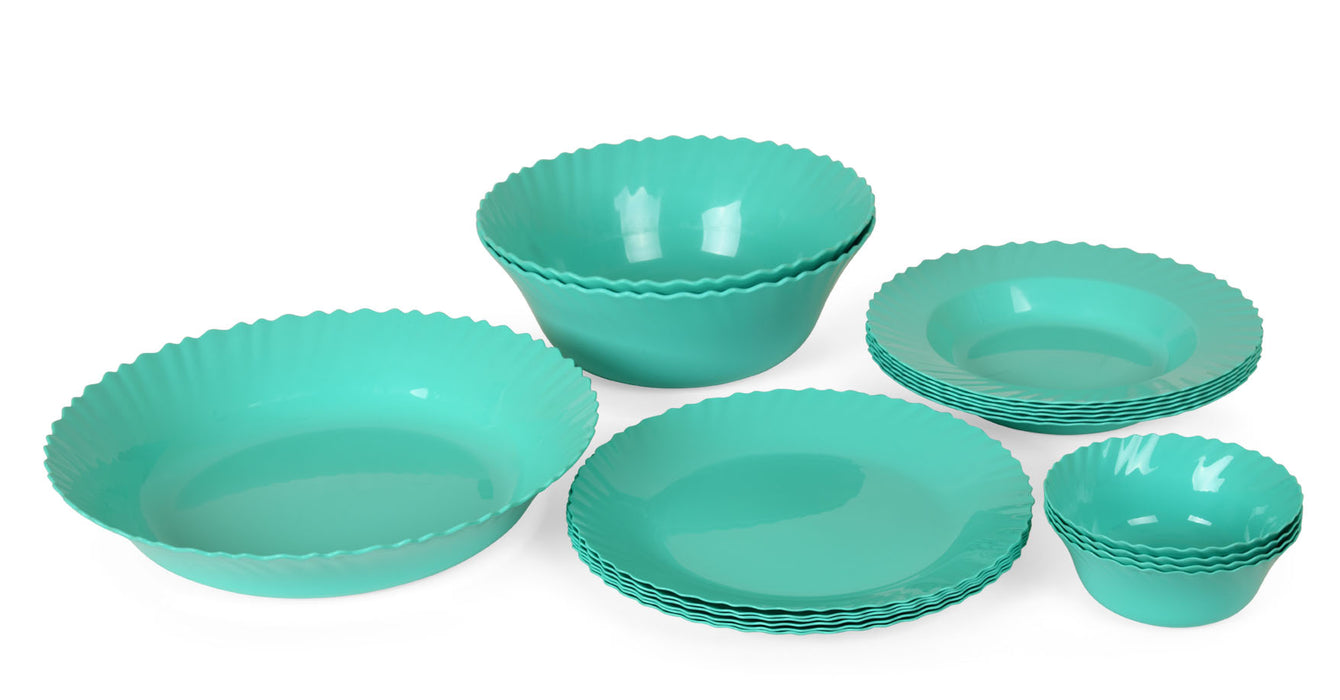 Curly Dinner Set mintra-shop.myshopify.com Turquoise