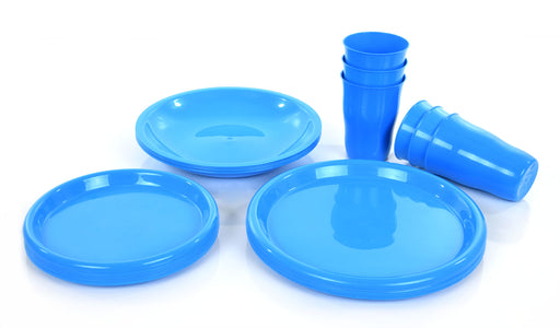 Party Plates And Cups Set mintra-shop.myshopify.com Blue