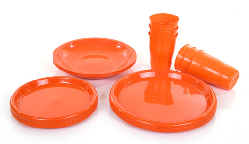 Party Plates And Cups Set mintra-shop.myshopify.com Orange