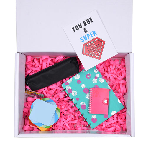 Working Mom Box (Teal w/ Polka Talia Notebook) 5 Items
