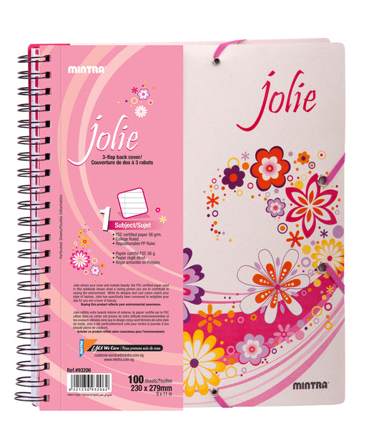 Jolie Notebook ( 1, 3 5 Subjects)
