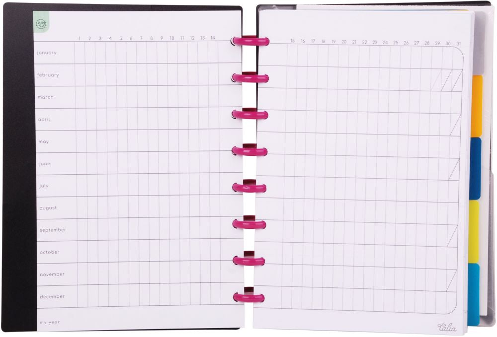 Talia Notebook Black (Different Sizes)