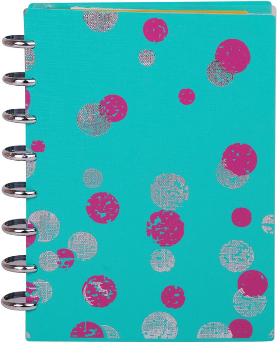 Talia Notebook Polka Dot Teal (Junior Size 14 x 21.6 )
