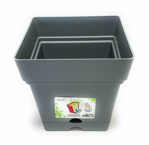 Square pot 18 cm mintra-shop.myshopify.com Grey