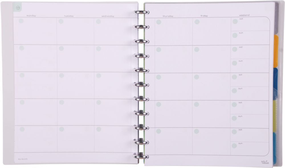 Talia Notebook Transparent (Letter Size 21.6 x 26.7 )