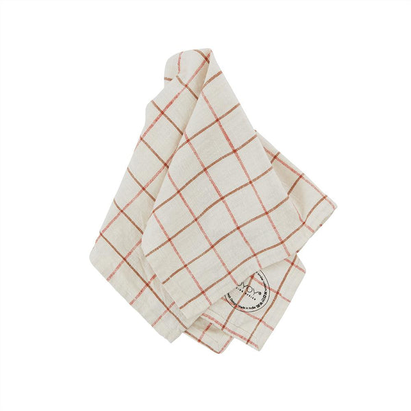 OYOY Living Design - OYOY LIVING Grid Slub Napkin - Pack of 2 Napkin 102 Offwhite / Red ?id=17048348033104